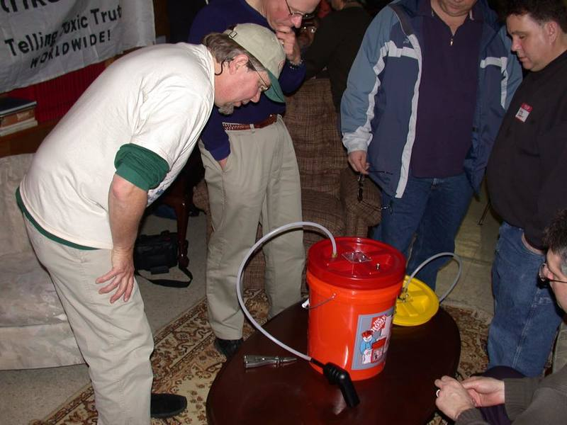 "Building the ""Bucket"" with Denny Larson, 2003 Image courtesy of Citizen Science Community Resources"