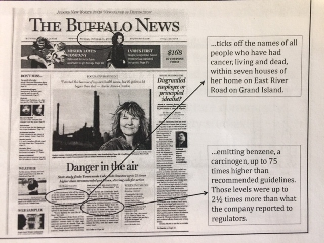 Buffalo News article that caught Aaron Mango's attention, October 11, 2009 Image courtesy of Citizen Science Community Resources