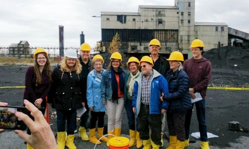 CSCR members outside the shuttered Tonawanda Coke, October 2019 Image courtesy of Citizen Science Community Resources