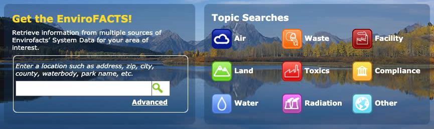 Envirofacts homepage