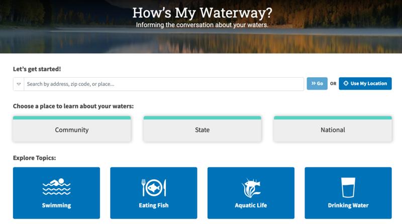 How's My Waterway homepage