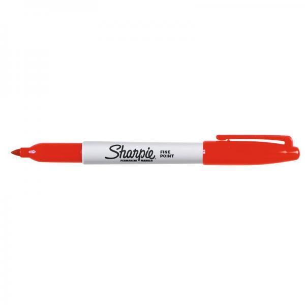 Marcatore permanente Sharpie Fine punta conica 1 mm rosso S0810940