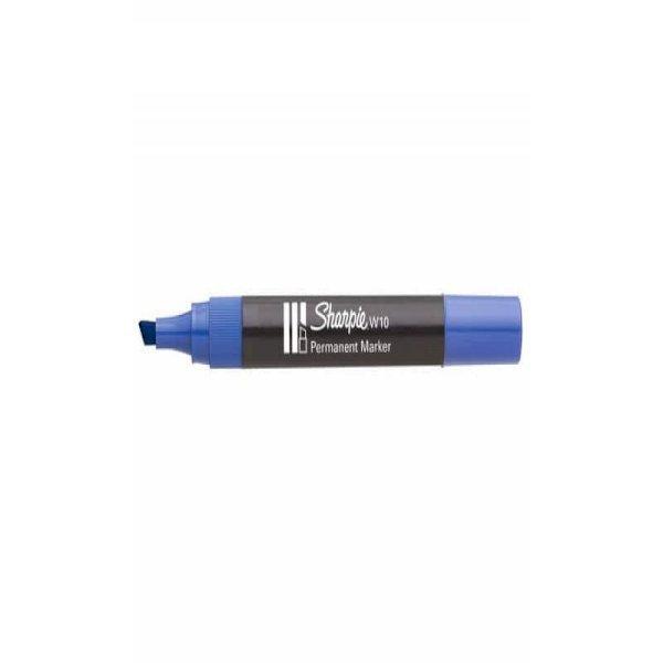 Marcatore permanente Sharpie W10 punta a scalpello 5 mm Blu S0192695