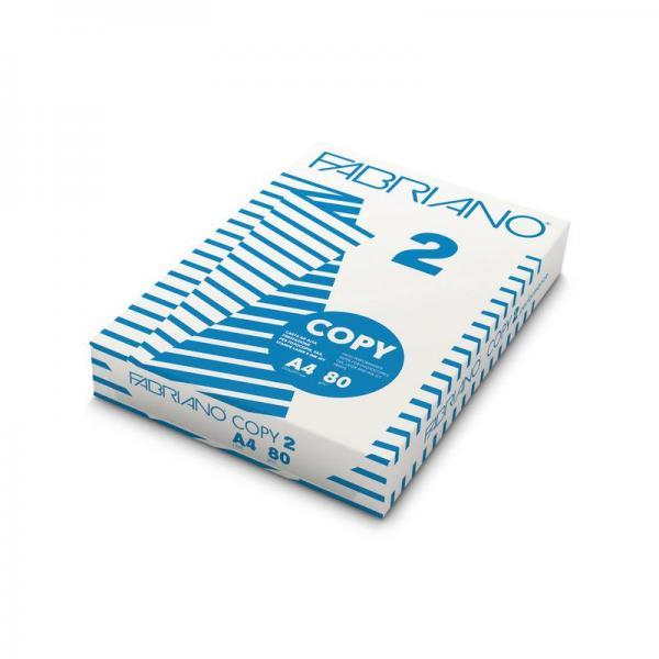 Carta per fotocopie A4 Fabriano COPY 2 risma 500 ff bianco A4 21x29,7 cm 80 g/mq  41021297