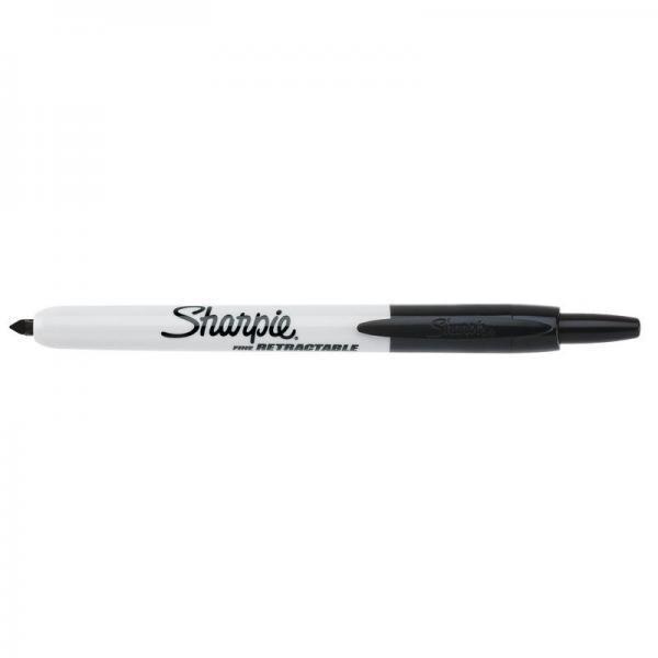Marcatore permanente Sharpie RT a scatto F a punta conica 1 mm nero S0810840