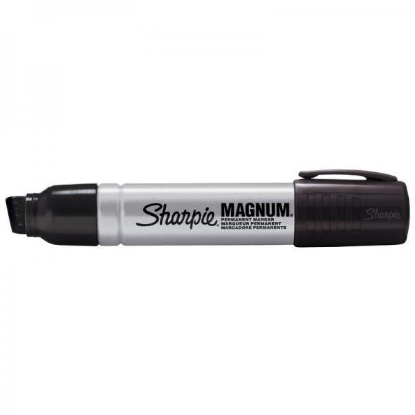 Marcatore permanente Sharpie Metal Magnum punta a scalpello Large 9-14,8 mm nero - S0949850