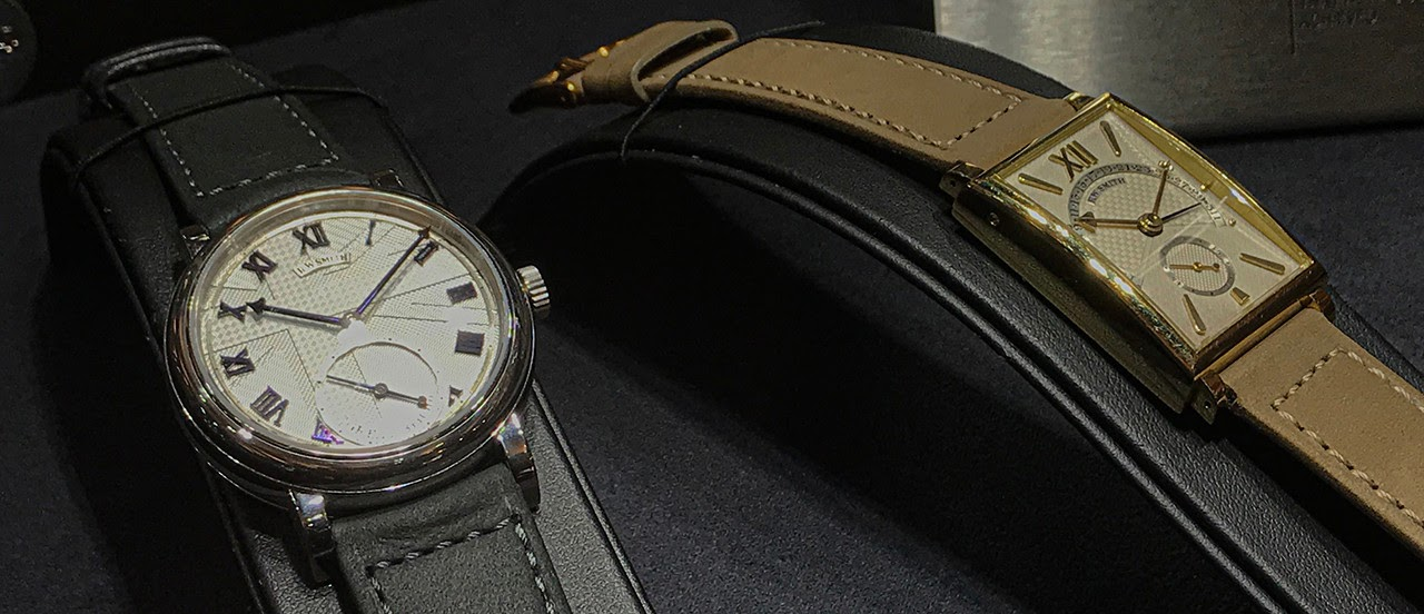 """7dabf5d4d336 With the Series 1 rectangular watch on show he started to establish his own  brand. He made nine of them: """"At that time I had very limited equipment."""