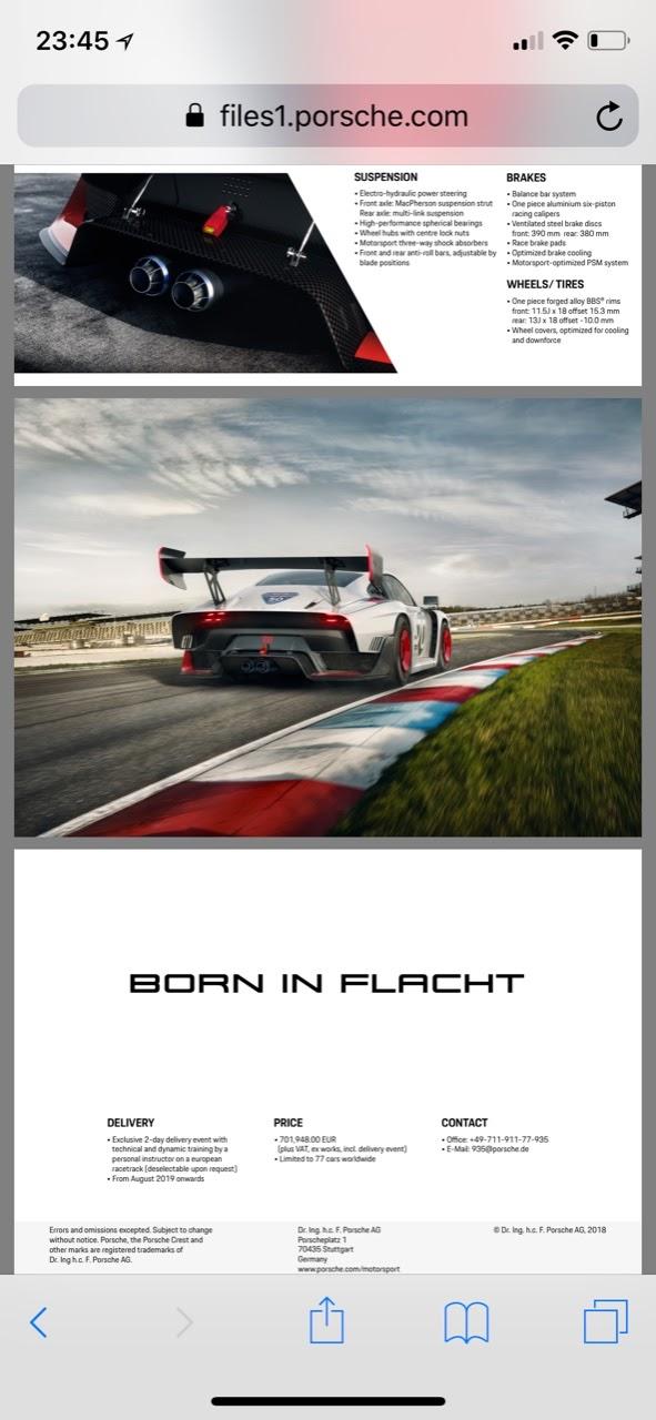 Automotive - Porsche to build 77 new 935 race cars for private