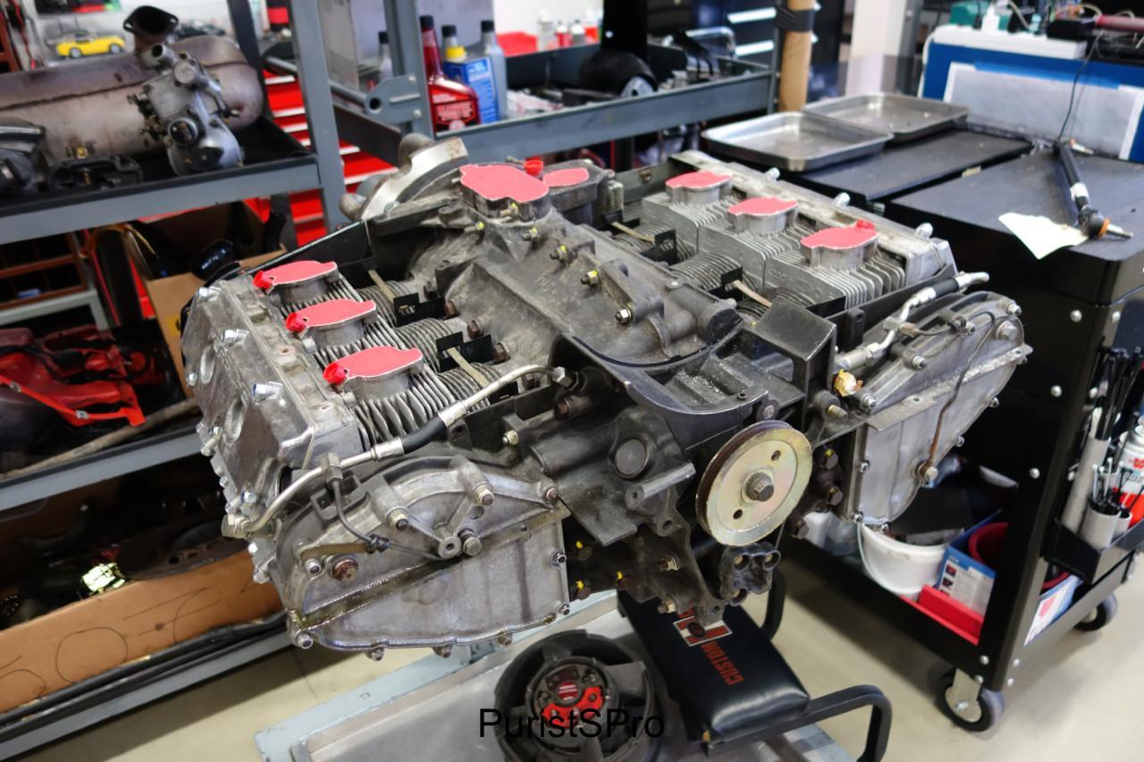 A Porsche flat boxer engine.