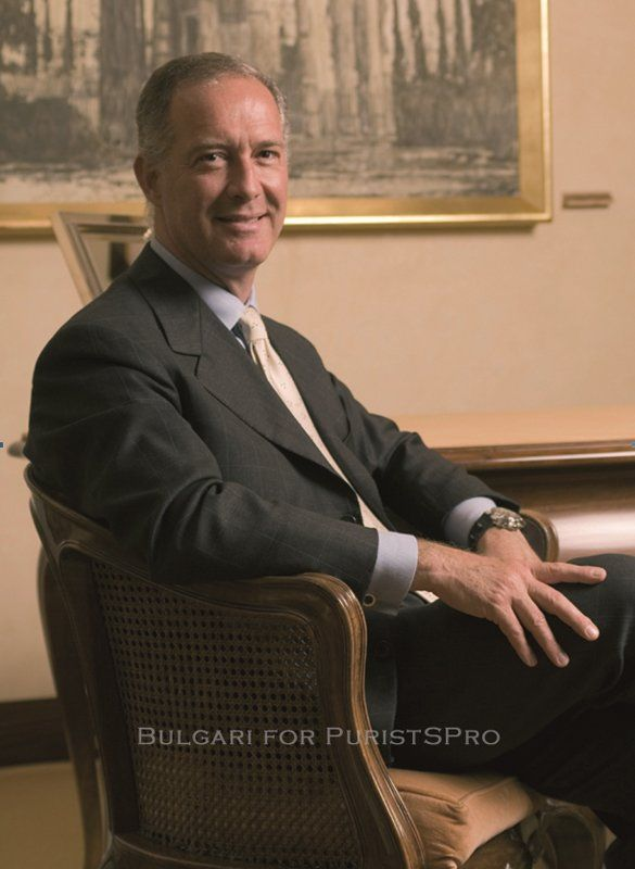 Mr. Francesco Trapani, CEO of the Bulgari Group