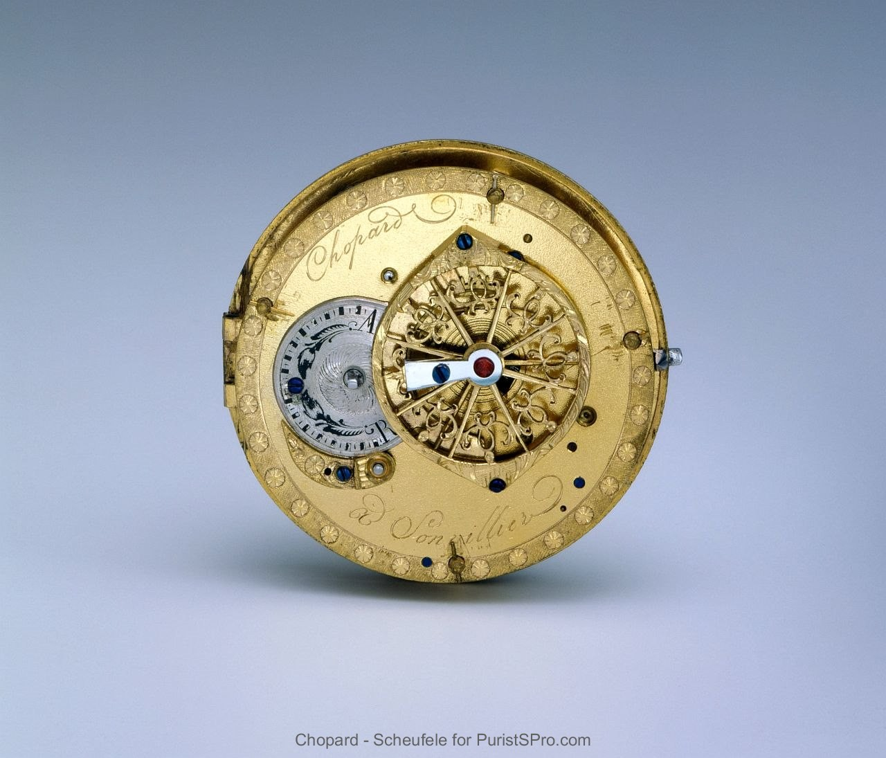 Movement of one of the first Chopard pocket watches