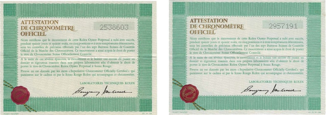 Punch style 4x6 French certificates only