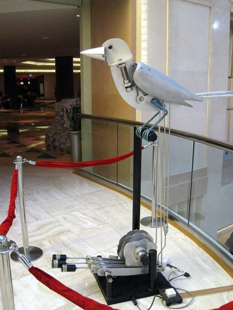 After registration, walking towards the main hall, greeted by Junod's Automaton Bird