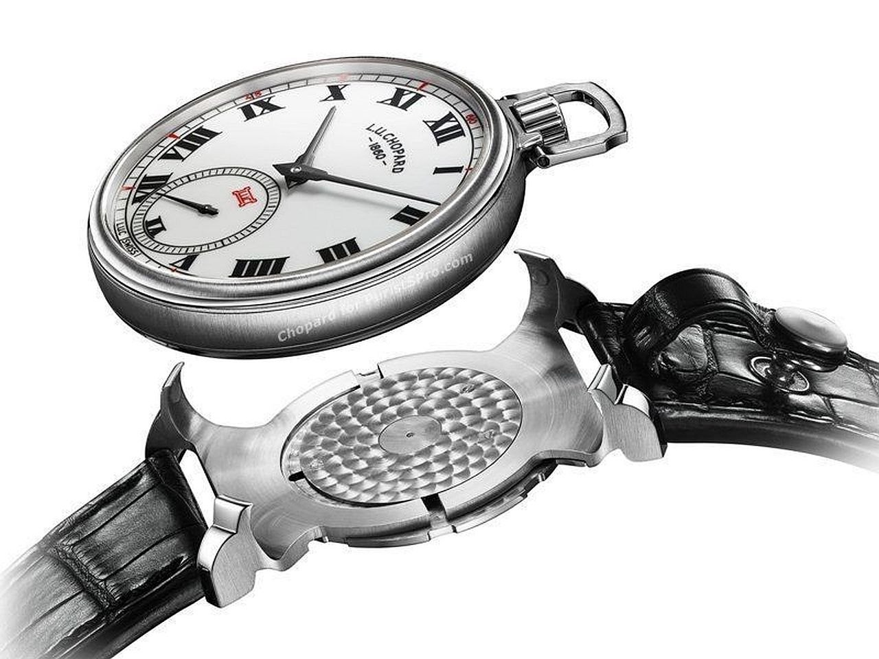 Tribute to L.U. Chopard with modern version of watch clip