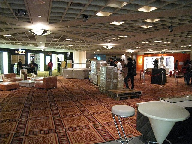 The Main Foyer before the exhinition hall...