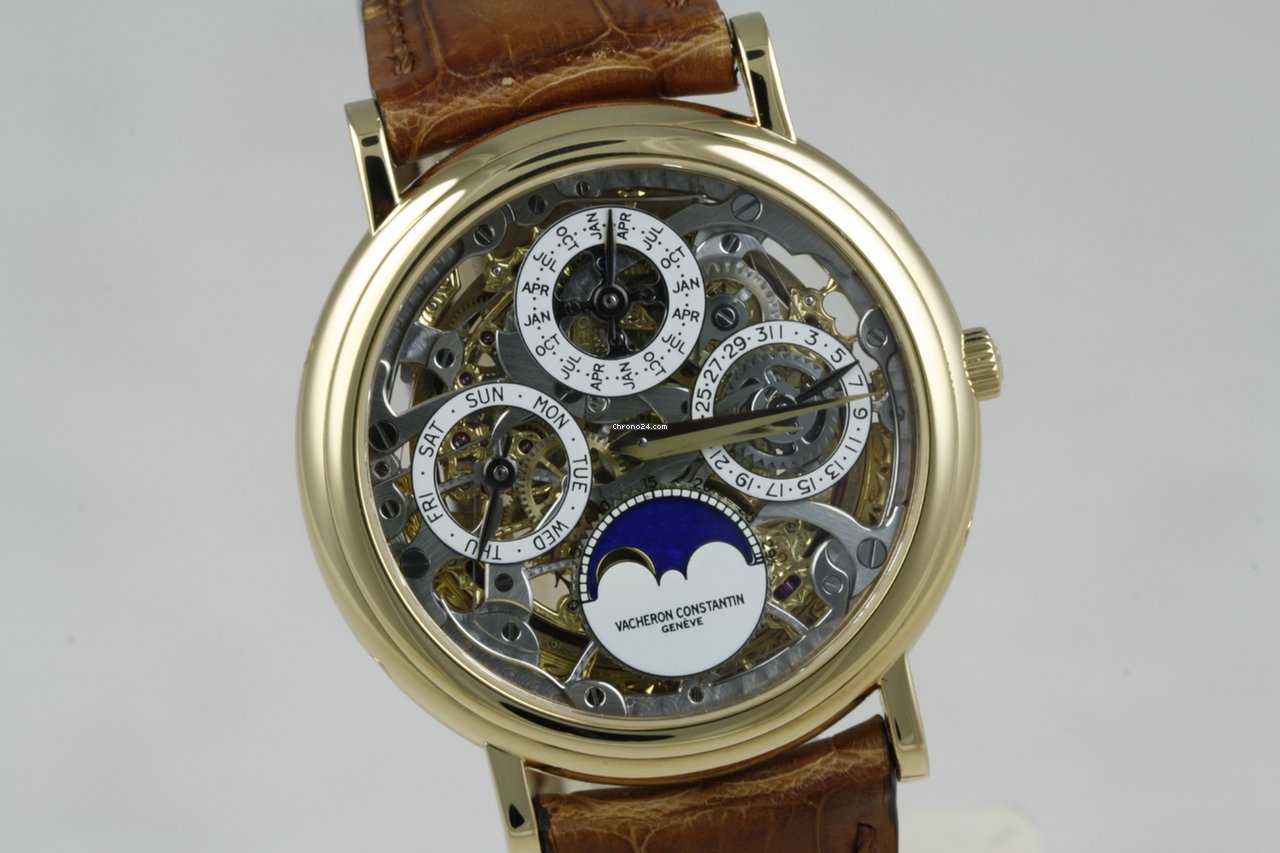 97db64acce0 Vacheron Constantin Patrimony Perpetual Calendar Skeleton REF 43032 in  yellow gold - like new - watch comes with box and VC extract from the  archives ...