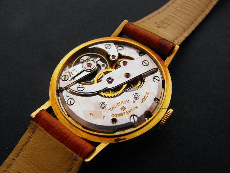 Vintage 18K Gold Las Deco Longines Turler Wrist Watch