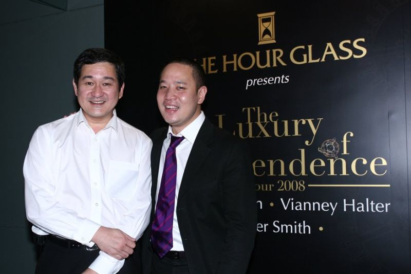 Laurence Wee and Michael Tay, Executive Director of The Hour Glass