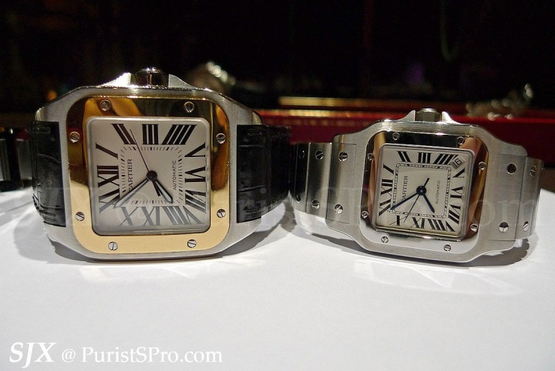7d280e48aa4b1 Cartier - A detailed comparison of the steel Santos watches