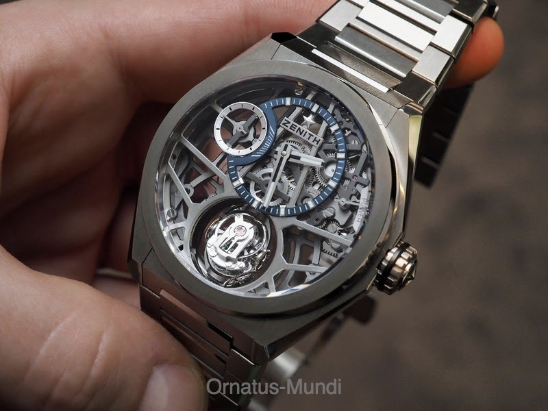 c5b0faff1628 Quick BaselWorld 2018 Live Pics  The Zenith Defy Zero G with  reduced-to-the-max Gravity Control Module
