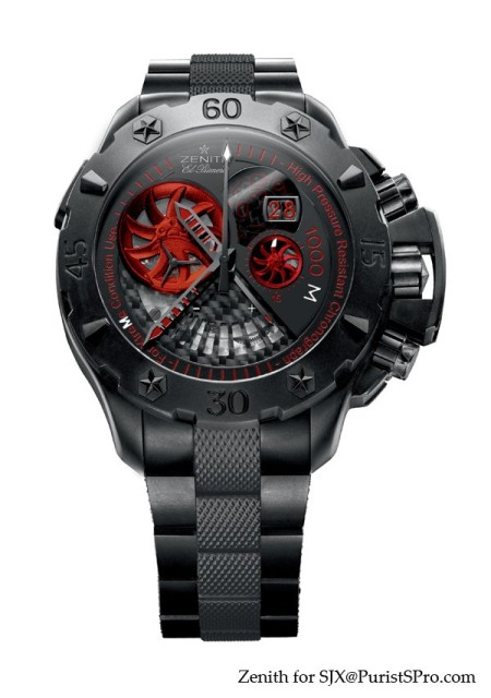 Most Extreme Zenith Defy Extreme Yet! The Zenith Defy Xtreme Stealth Limited Edition Watch Watch Releases