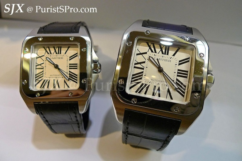 63a070c7224e Cartier - A detailed comparison of the steel Santos watches