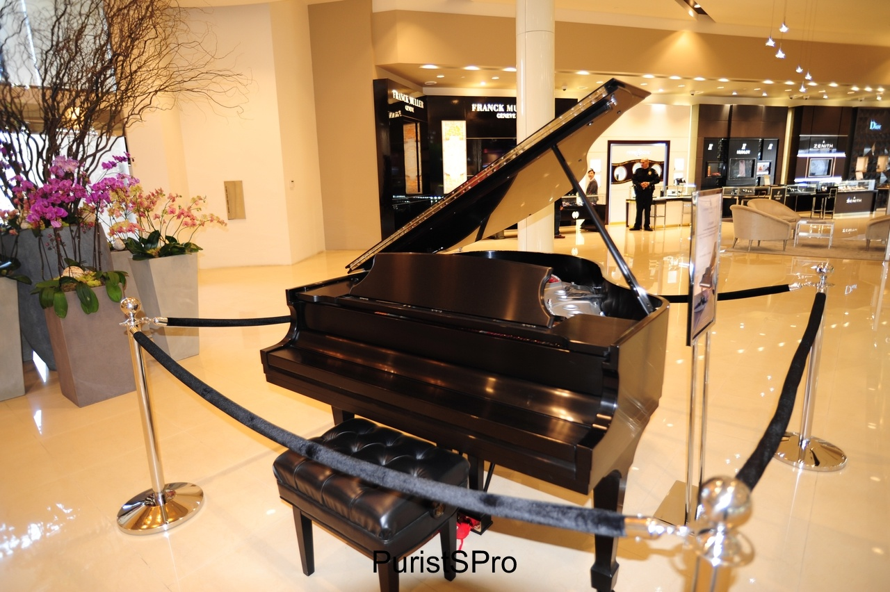 A Steinway that Lang Lang has played. Lang Lange hosted a private concert for guests of Hing Wa Lee.