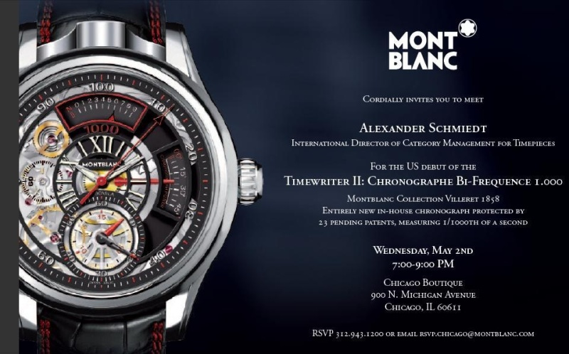 Chicago area PuristS...here is a special treat for you from Montblanc