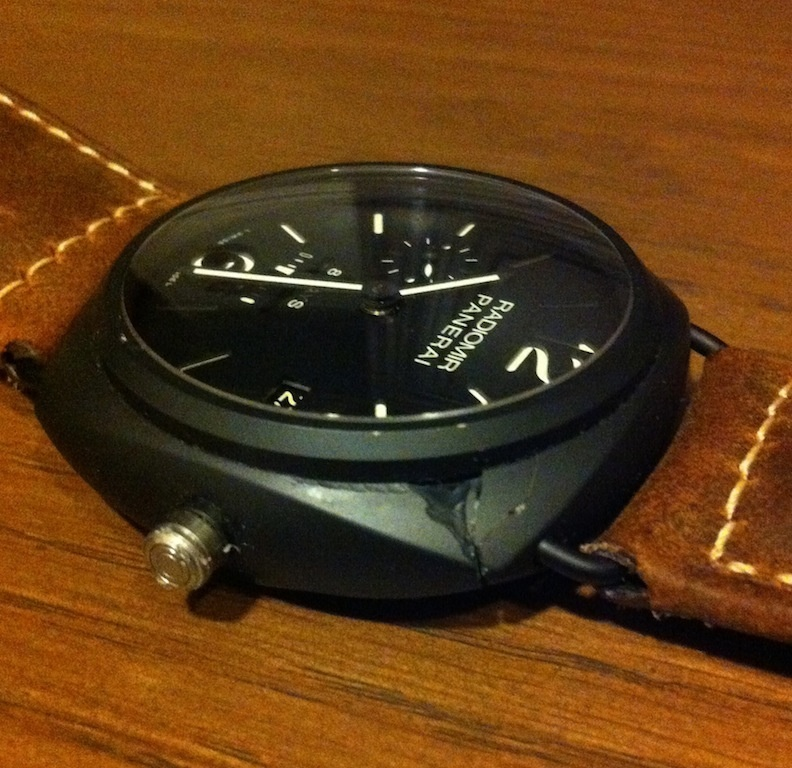 Officine Panerai - Dropped my PAM384 and cracked the case
