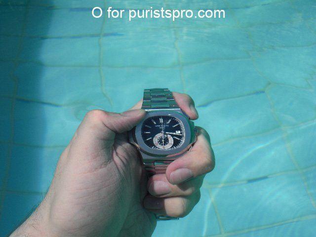 underwater before starting chrono