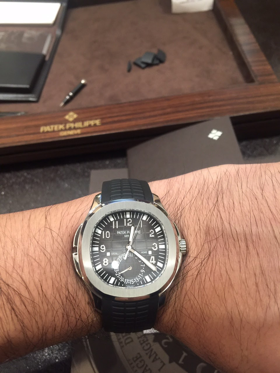 Patek Philippe Aquanaut 5164 Travel Time Wrist Shots