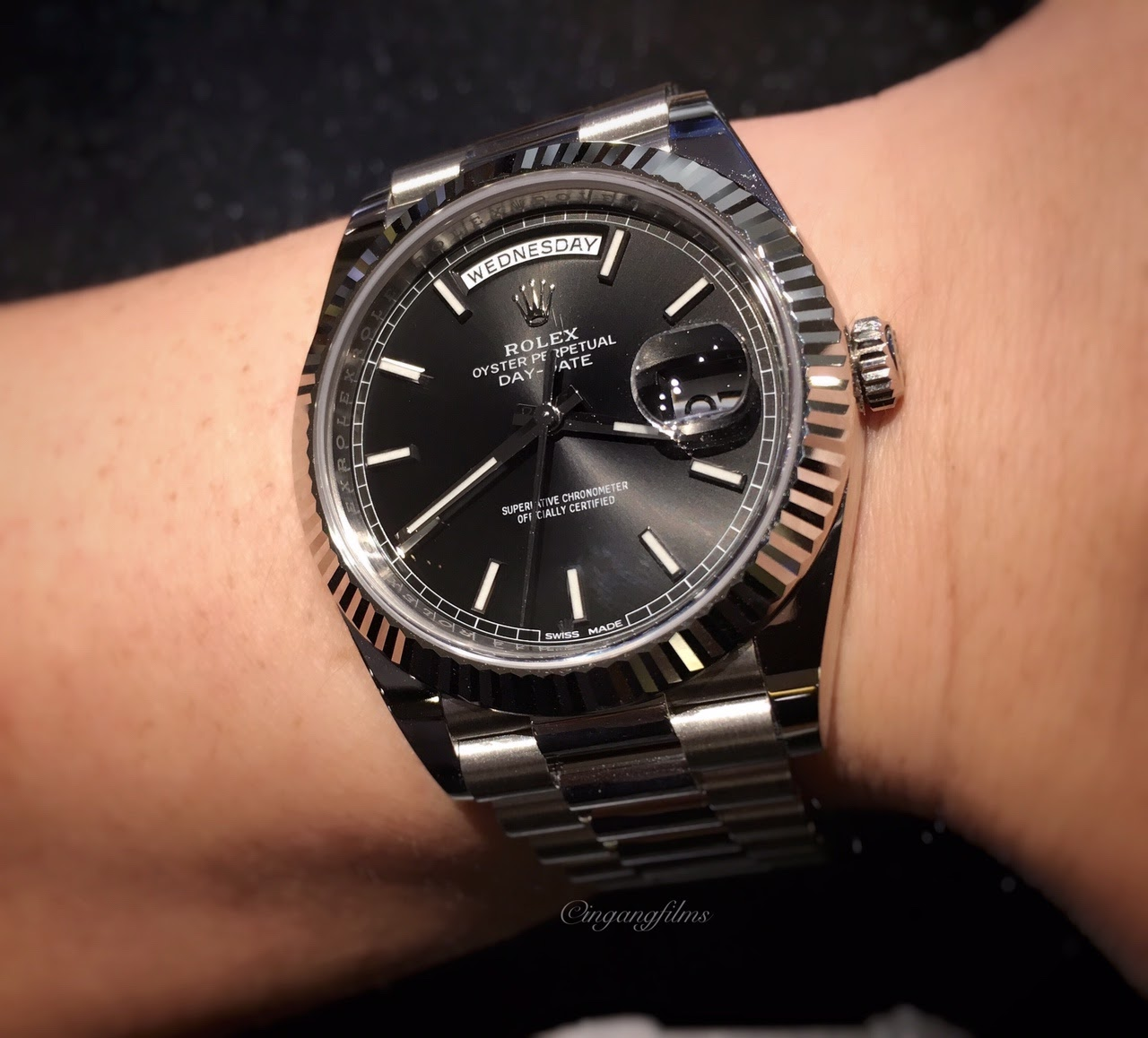 Rolex 228239 Black Dial Day Date 40