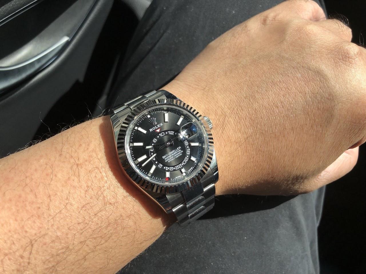 Rolex , SS Sky,Dweller