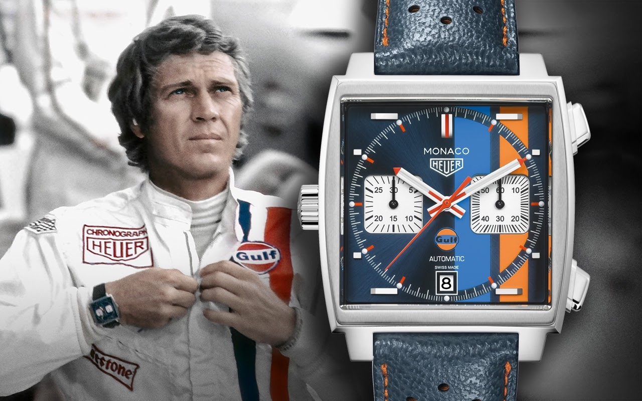 f7f68a98804 TAG Heuer - TAG Heuer announces new Monaco 50th Anniversary Gulf Racing Special  Edition!