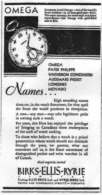 Toronto Globe & Mail, 1933