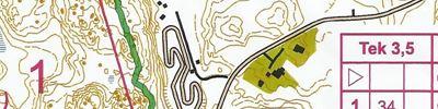 Länsirastit Kellonummi - Käyräkartta