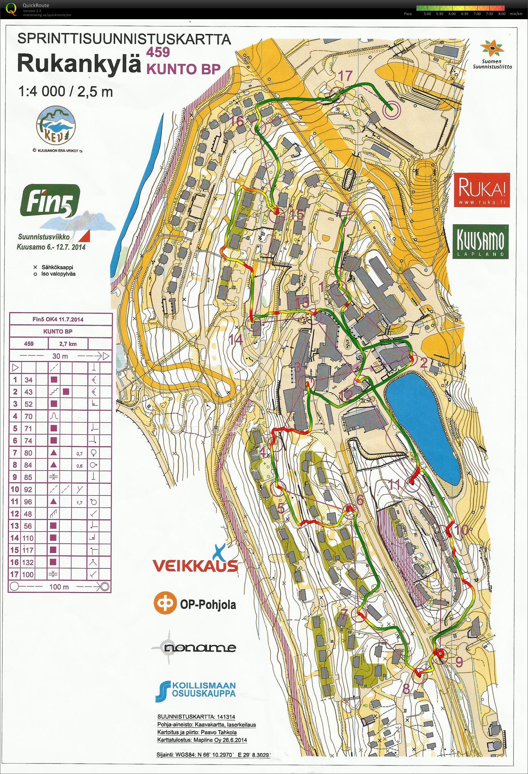 FIN5 OK4 Rukankylä Sprintti (11/07/2014)
