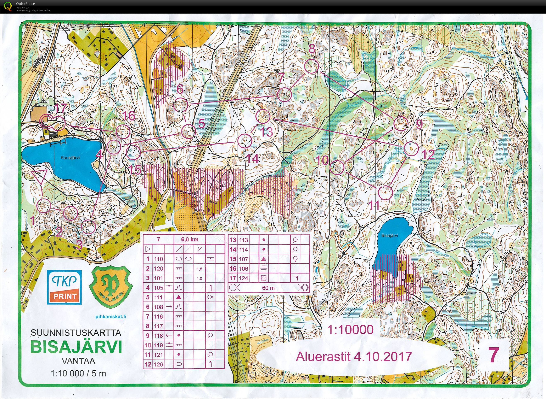 Puiston yömestaruus 2017 Kuusijärvi (04/10/2017)