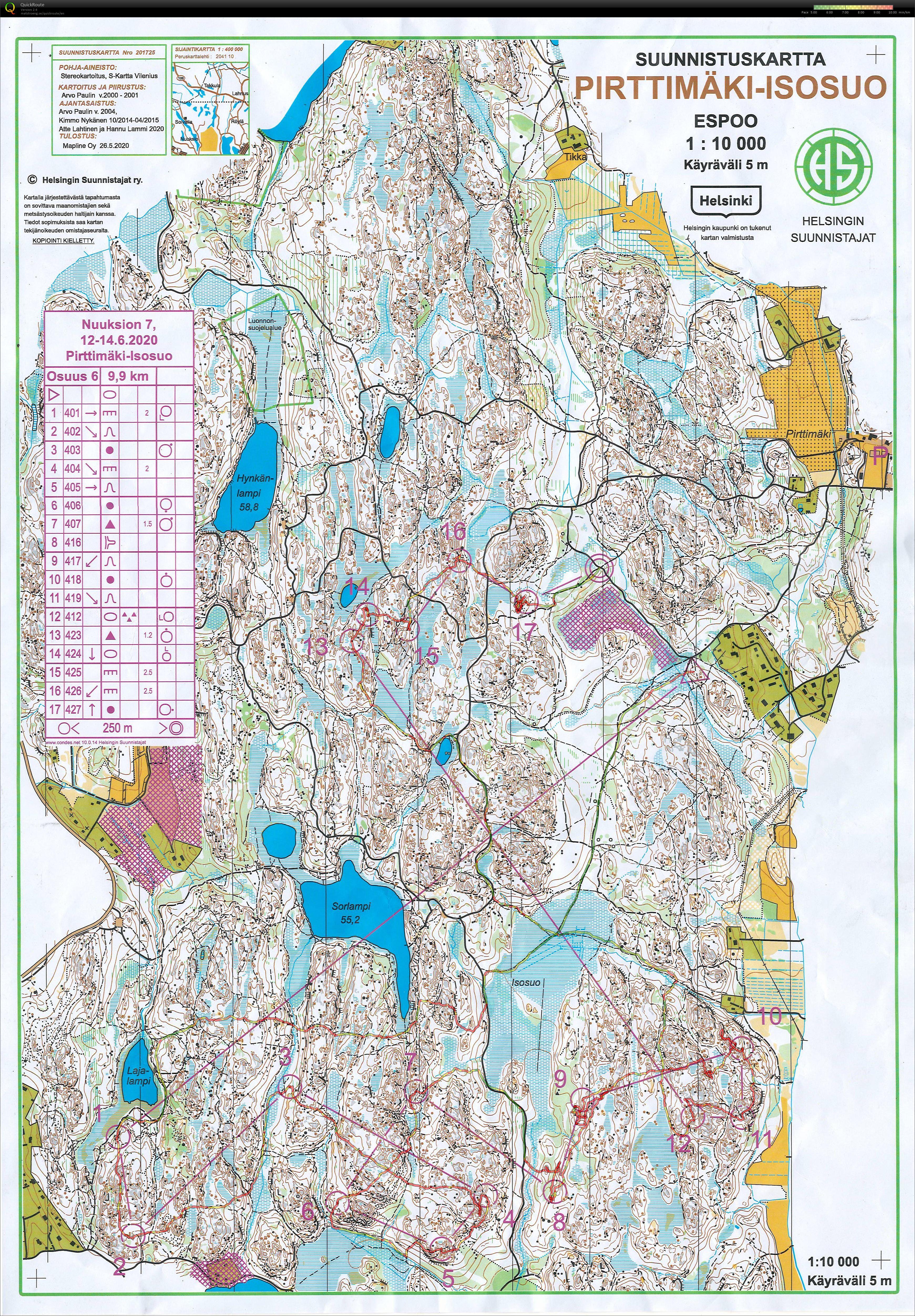 Nuuksio 7 osuus 6 Pirttimäki Isosuo (12/06/2020)