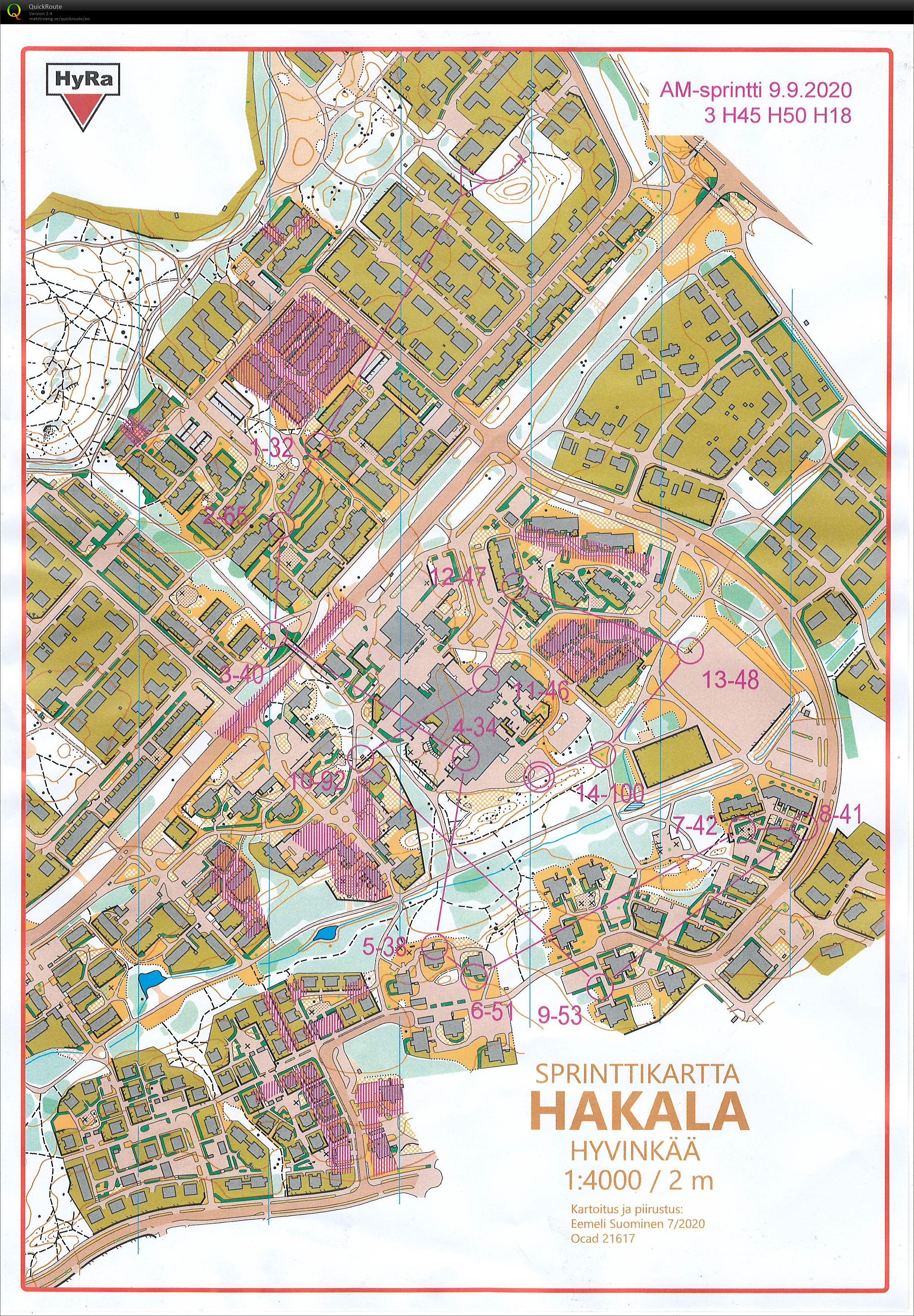 Puisto Mestis Sprintti Hyvinkää H45 (09/09/2020)