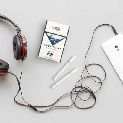 CBD Hemp Cigarettes with Some Headphones