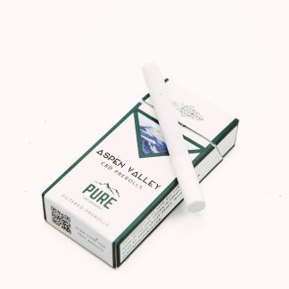 A pack of Aspen Valley Hemp CBD Cigarettes