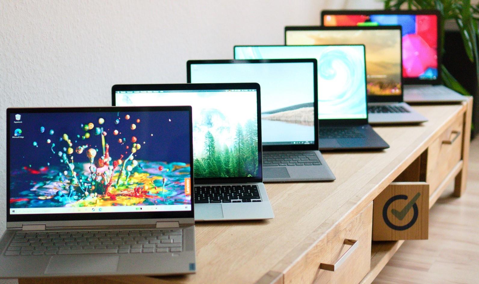 Wir hatten sechs Laptops dem Alltagstest unterzogen und dabei auf Akku, Display und mehr geachtet