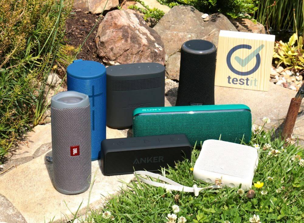 Die sieben Bluetooth-Lautsprecher aus unserem Test