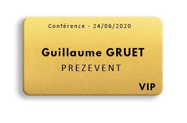 badge doré