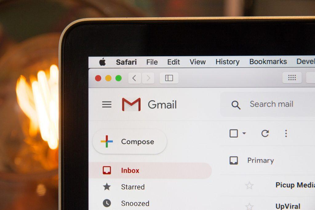 L'interface de Gmail