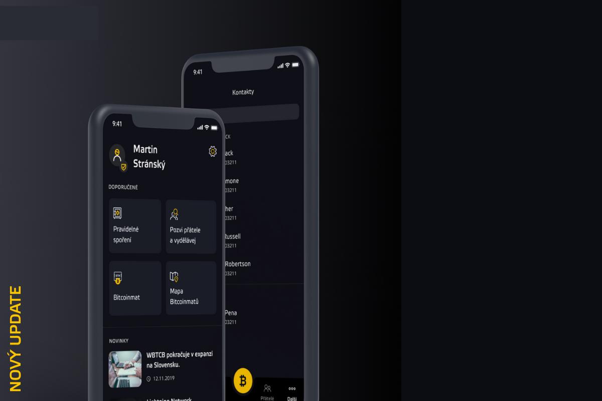 Nový update aplikace přináší mnoho novinek!