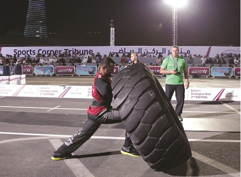 14 competitors participate for Qatars Strongest Man