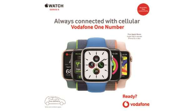 Apple Watch Series 5 with built-in cellular arrives at Vodafone Qatar