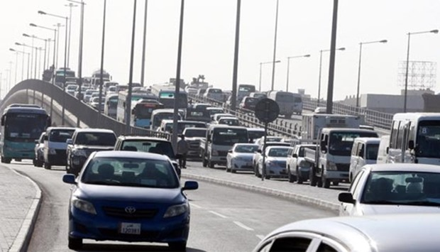 Doha experiences severe traffic congestion